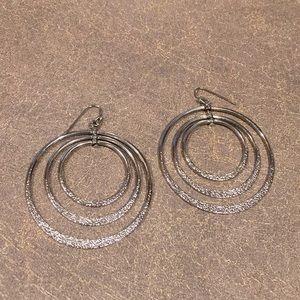 Cookie Lee Silver Hoop Earrings